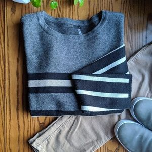 THML   Anthropologie   Thick Striped Sweater